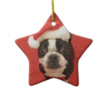 Boston Santa Star Ornament