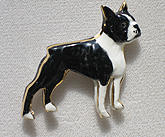 Boston Terrier Ceramic Pin