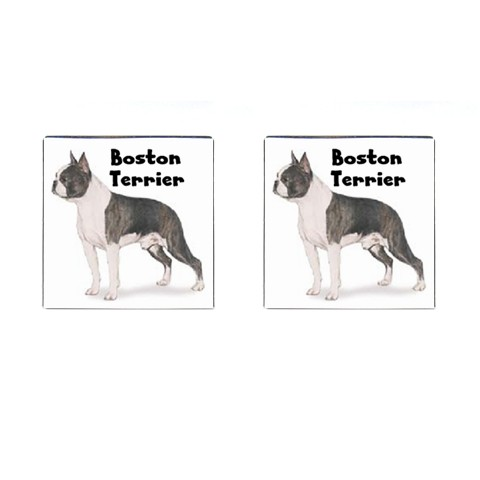 Boston Terrier Dog Cuff Links