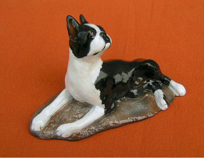 Boston Terrier Hevener Figurine