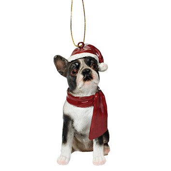 Boston Terrier Holiday Dog Ornament