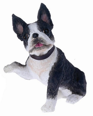 Boston Terrier Paws Up Figurine