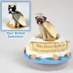 Boston Terrier Tiny One Angel Candle Topper
