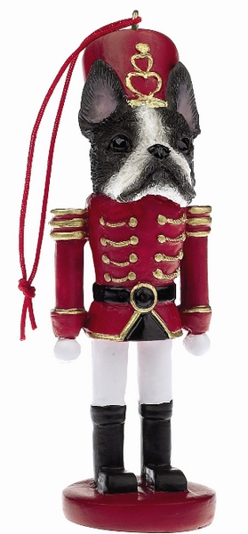 Boston Terrier Toy Soldier Ornament