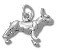 Silver Boston Terrier Charm
