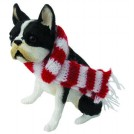 Boston Teriier with Scarf Sandicast Ornament