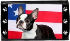 Boston Terrier American Flag Wallet