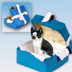 Boston Terrier Blue Box Ornament