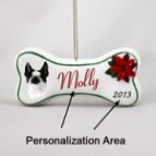 Boston Terrier Bone Ornament
