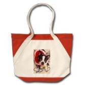 Boston Terrier Christmas Lights Tote Bag