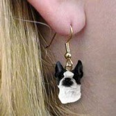 Boston Terrier Drop Earrings