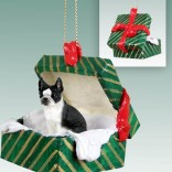 Boston Terrier Green Box Ornament