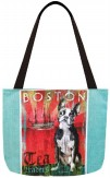 Dog Crossing Boston Terrier Tote