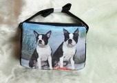 Large Boston Terriers at the Beach Handbag