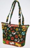 Pawprints in Black Tote Bag